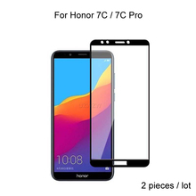 2pcs For Huawei Honor 7C Pro / Honor 7C Full Cover Tempered Glass Screen Protector Protective Glass For Huawei Honor 7C Pro 2pcs for huawei honor 7c pro honor 7c full cover tempered glass screen protector protective glass for huawei honor 7c pro