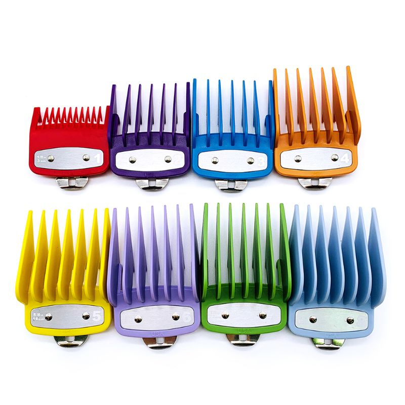 8pcs Professional Cutting Guide Comb 3/6/10/13/16/19/22/25mm Set Replacement Cutting Tool Kit|Hair Trimmers| |  - title=