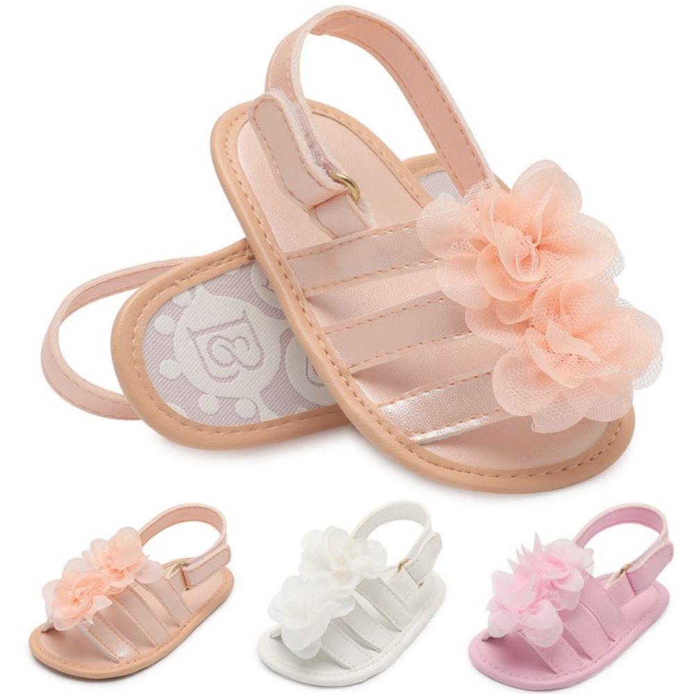Sandals For Girls Baby Girls Shoes Non-Slip Baby Flower Sandals Toddlers Newborn Infantil Sandals Children Kids Summer Shoes