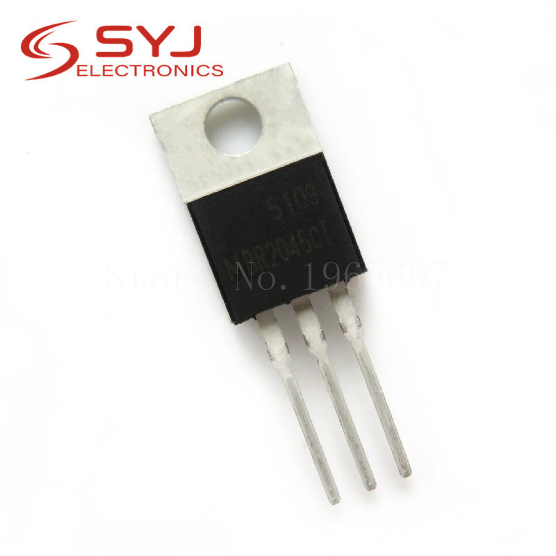 10pcs/lot MBR2045CT <font><b>MBR2045</b></font> MBR2045C 20A 45V TO-220 new original In Stock image