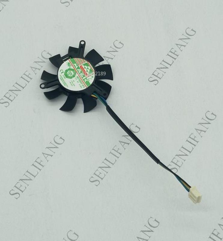 For Magic MGT5005XF-W10 Server Cooling Fan DC 5V 0.35A 45X45X10mm 4-wire