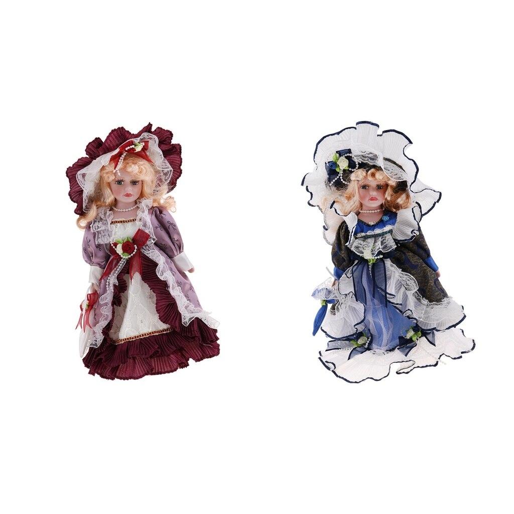 Dolls House Victorian Little Girl in Purple Dress Coat 1:12 Porcelain People