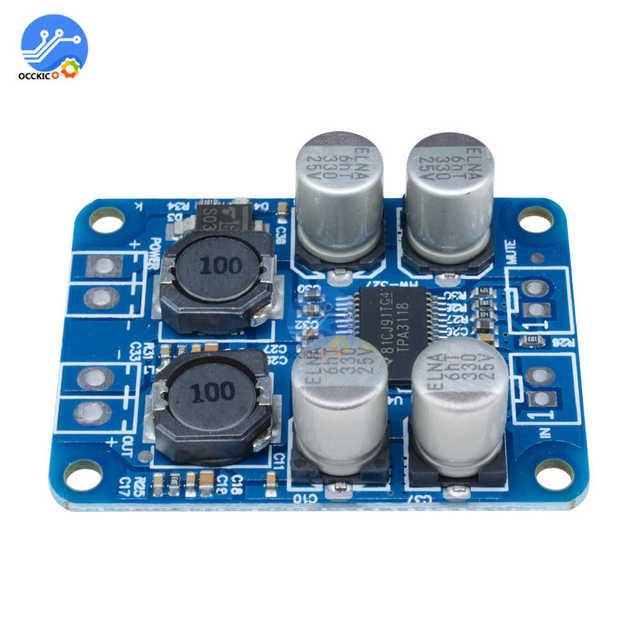 DC8-24V TPA3118 PBTL 60W Mono Digital Audio Amplifier Board AMP Module Chip 1X60W 4-8 Ohms Replace TPA3110 For Arduino 2