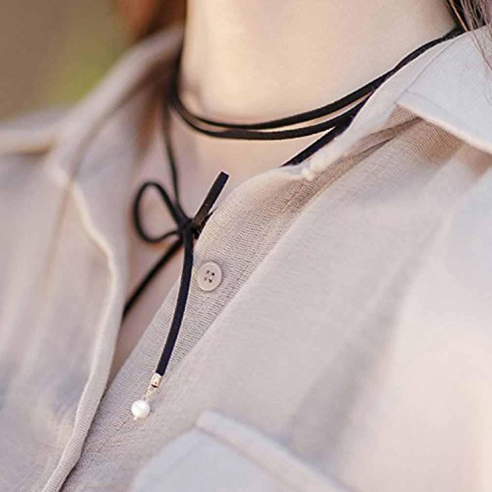 Yr120 ロング弓ネックレスブラウンファッション装飾女性ギフト Preresent 新
