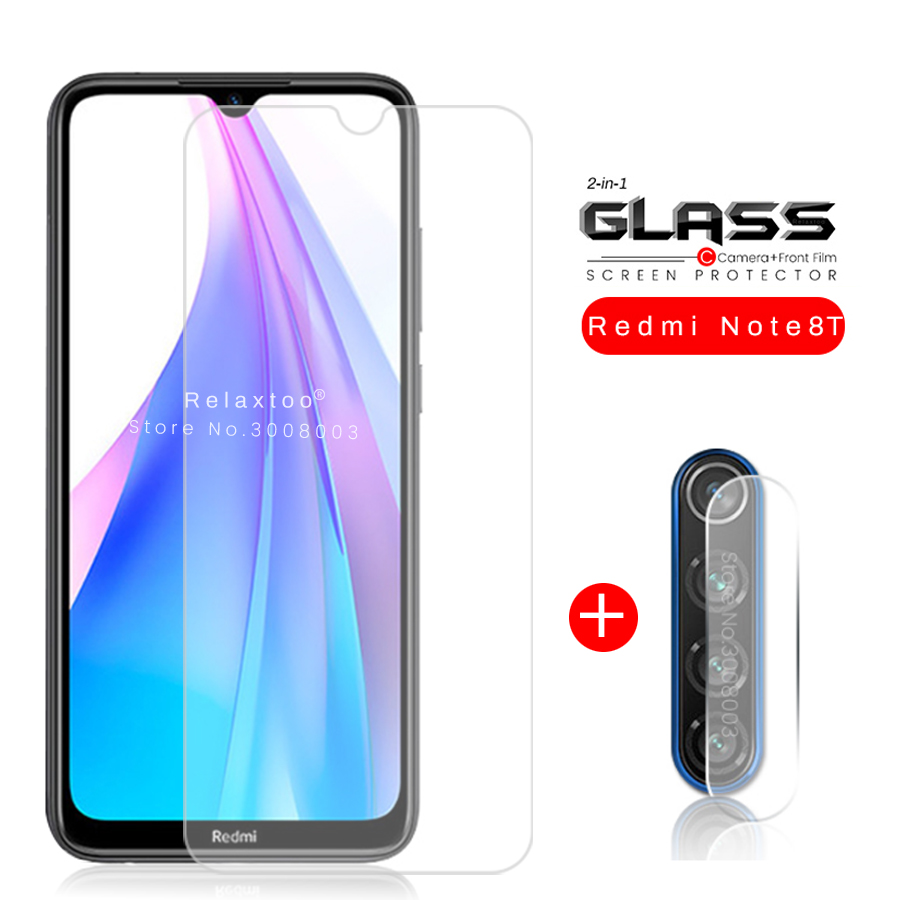 2in1 redmi note 8t glass camera protector for xiaomi redmi note8t notet8 protective glass on remi not 8t 8 t t8 not8t armor glas(China)