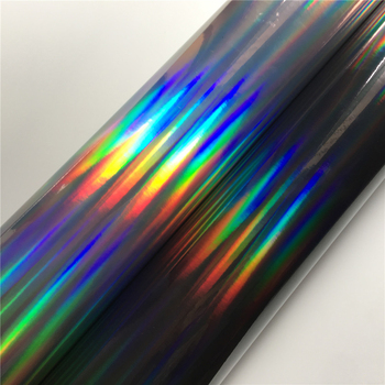 Black Rainbow Silver Chrome Vinyl Car Wrap Film Foil For Car Wrapping Self Adhesive Vinyl Sticker Auto Vehicle Decal image