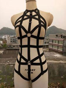 Image 4 - Corsé de atar el cuerpo para mujer, ropa interior, conjunto de cinturón, Sexy, liguero, correas para el pecho, accesorios para fiesta en club nocturno