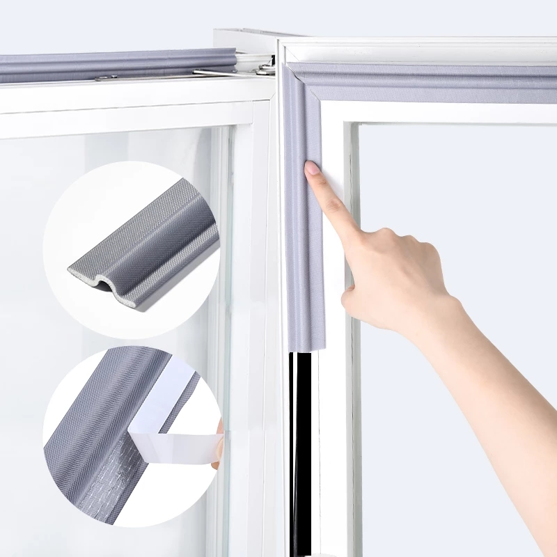 Tira autoadhesiva de 4M para sellado de puerta y ventana cinta de espuma acústica insonorizada para sellado de puerta y ventana