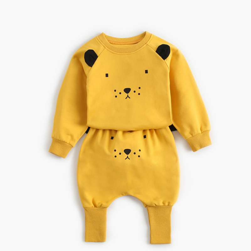 2021 New Newborn Baby Girls Clothes Autumn Baby Boys Clothes Set Kids Costume Infant Baby Clothing Suit Cotton Coat+Pants 1