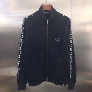 20ss Последние топ Япония хип хоп Mastermind MMJ Мужская и Женская куртка пальто черепа уха печатных мужчин на молнии куртки
