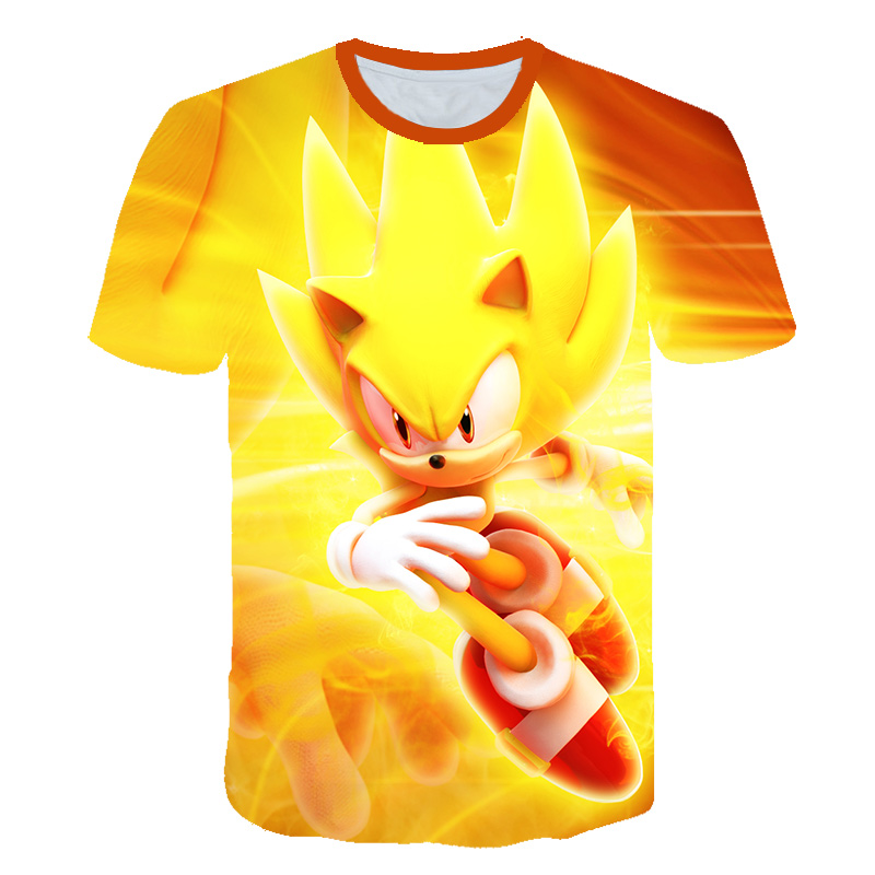 Забавные детские футболки с 3D суперзвуковым принтом для мальчиков и девочек, детский костюм из мультфильма, летняя одежда 2020, детская одежд...