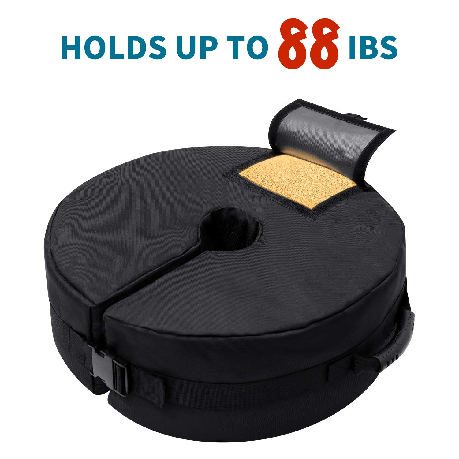 """Waterproof 18/"""" Round Weight Sand Bag Base Stand Patio Umbrella Tent Canopy 88lb"""