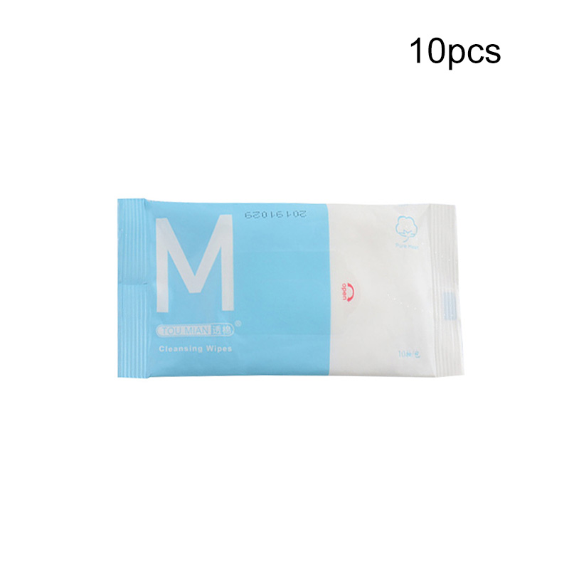 10pcs/Bag Disposable Portable 75% Alcohol Disinfection Wipe Cleaning Baby Wipes Cleaning Eyeglass Electronics Child Toys Wipes