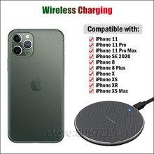 טלפון מהיר אלחוטי טעינה עבור Apple iPhone 11 פרו מקס SE 2020 SE2 8 בתוספת X XR XS מקס צ י 5W 7.5W 10W אלחוטי מטען