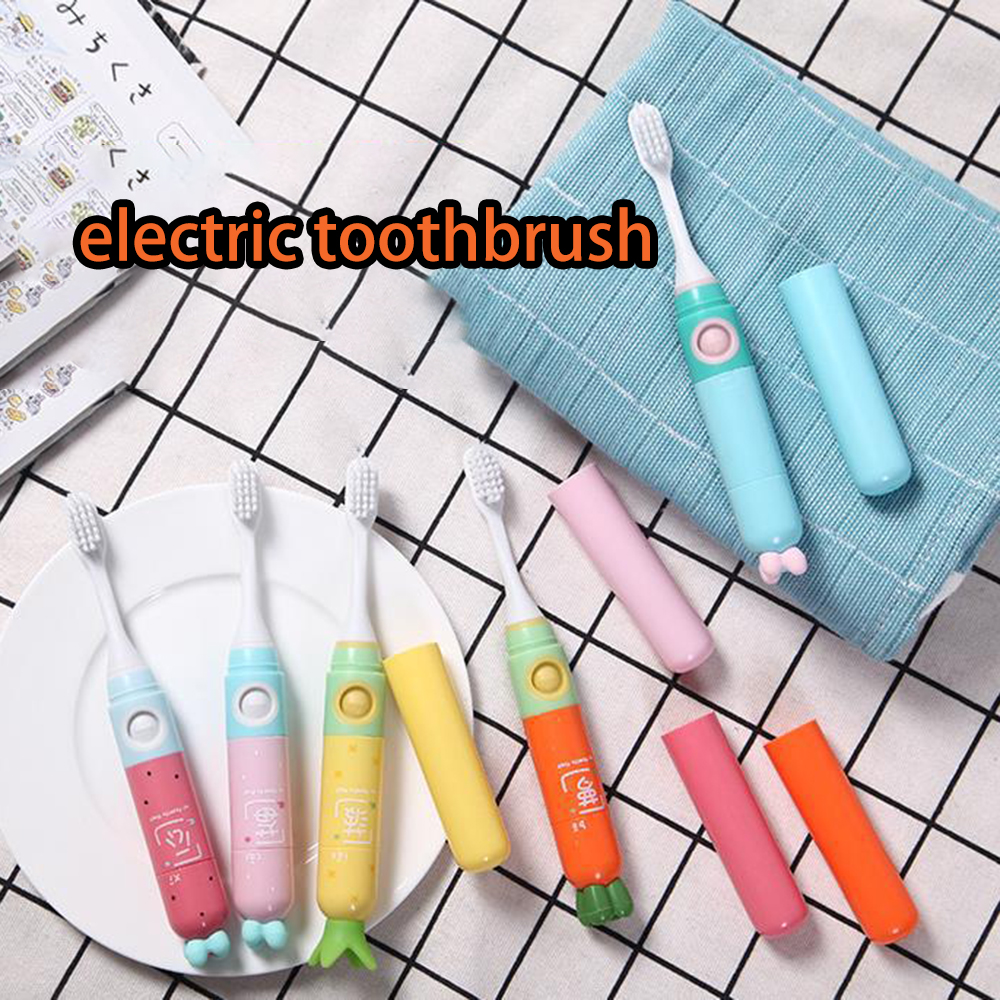 Adult Children Creative Toothbrush Portable Ultrasound Couple Kid Cartoon Travel Set Kids Portable image