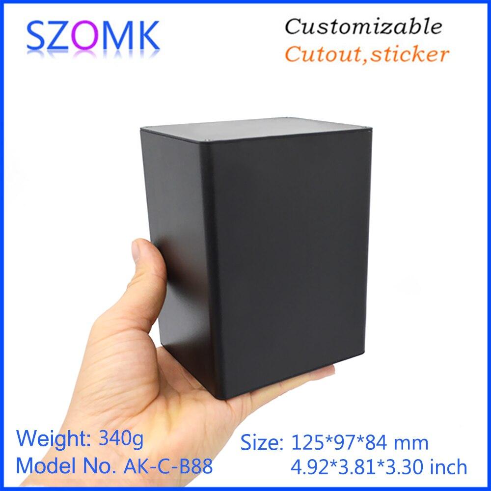 szomk aluminum enclosure for electronics device housing for pcb design audio aluminum control box enclosure casing (6)