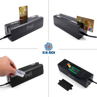 Cheap USB All In One with Track 1/2/3 Magnetic Stripe Card Reader RFID/IC/PSAM card reader and writer