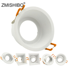 ZMISHIBO LED Downlight 75mm 90mm Cut Hole Recessed Ceiling Spot Lamp Fitting Frame Bulb Replaceable MR16 GU5.3/GU10/E27 Sockets led downlights round double rings rotary fitting e27 85 265v 75mm 3 inch cut hole recessed mounted spot lamp bulb replaceable