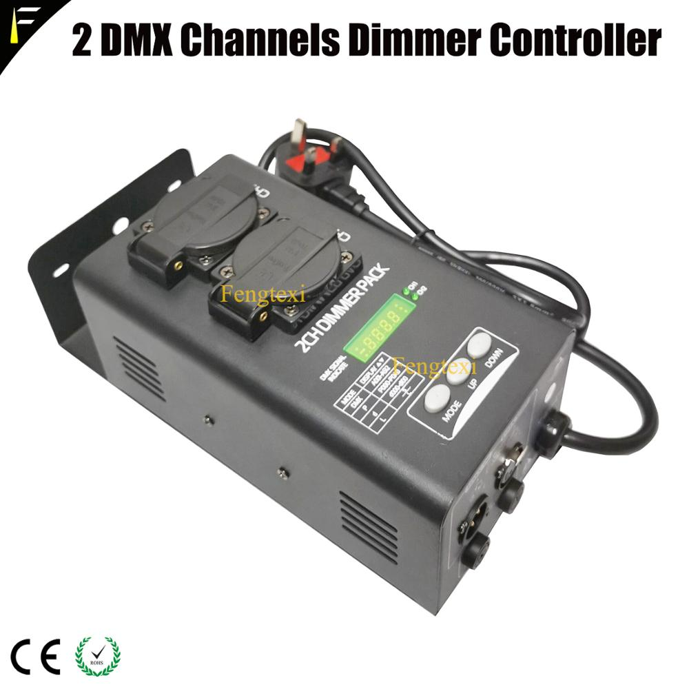 1kw/2kw With Digital DMX Address 2 Channels Dimmer Switch Pack 0~100% Linear Dimming Pack Suit For Permanent Mobile Application