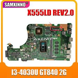 X555LD Motherboard REV 2.0 i3 cpu 4GB RAM For Asus X555L X555LP A555L K555L F555L X555LJ laptop motherboard Mainboard