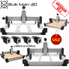Workbee CNC Router Machine Kit 4 Axis Woodworking Metal Engraver Milling Machine Nema23 stepper motor CNC with small budget cheap BULK-MAN 3D Mechanical Kit Hardware Parts BM-WB WorkBee CNC Machanical Kit 500mmx750mm~1500mmx1500mm ACME Lead Screws Or GT3 Timing Belts