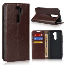 Natural Genuine Leather Skin Flip Wallet Book Phone Case Cover On For Xiaomi Redmi Note 8 Pro Note8 8Pro Global 6/8 64/128 GB