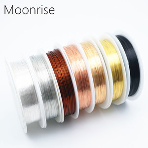 Colorfast Copper Wire For Bracelet Necklace Jewelry DIY Accessories 0.2/0.25/0.3/0.5/0.6/1.0mm Craft Beading Wire HK018(China)