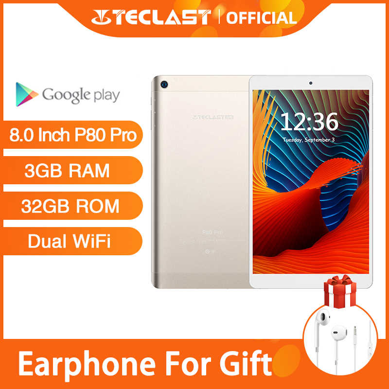 Teclast P80 Pro Tablet Android 8 Pollici Tablet 1920*1200 Touchscreen 3GB di RAM 32GB di ROM Dual WiFi android 7.0 MTK8163 Quad Core GPS