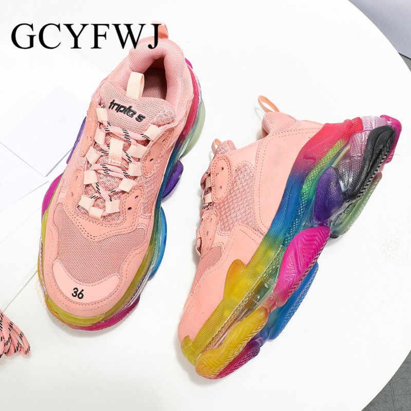 GCYFWJ Women Sneakers Cushion Crystal