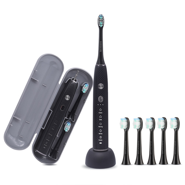 Sarmocare Ultrasonic Sonic Electric Toothbrush Rechargeable S600 5 models Wireless IPX7 Waterproof Vibrator For Toothbrushes image