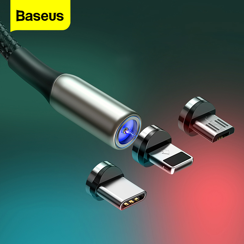 Baseus Magnetic Micro USB Cable For IPhone Samsung Type-C Charging Cable Magnet Charger Adapter USB Type C Mobile Phone Cables