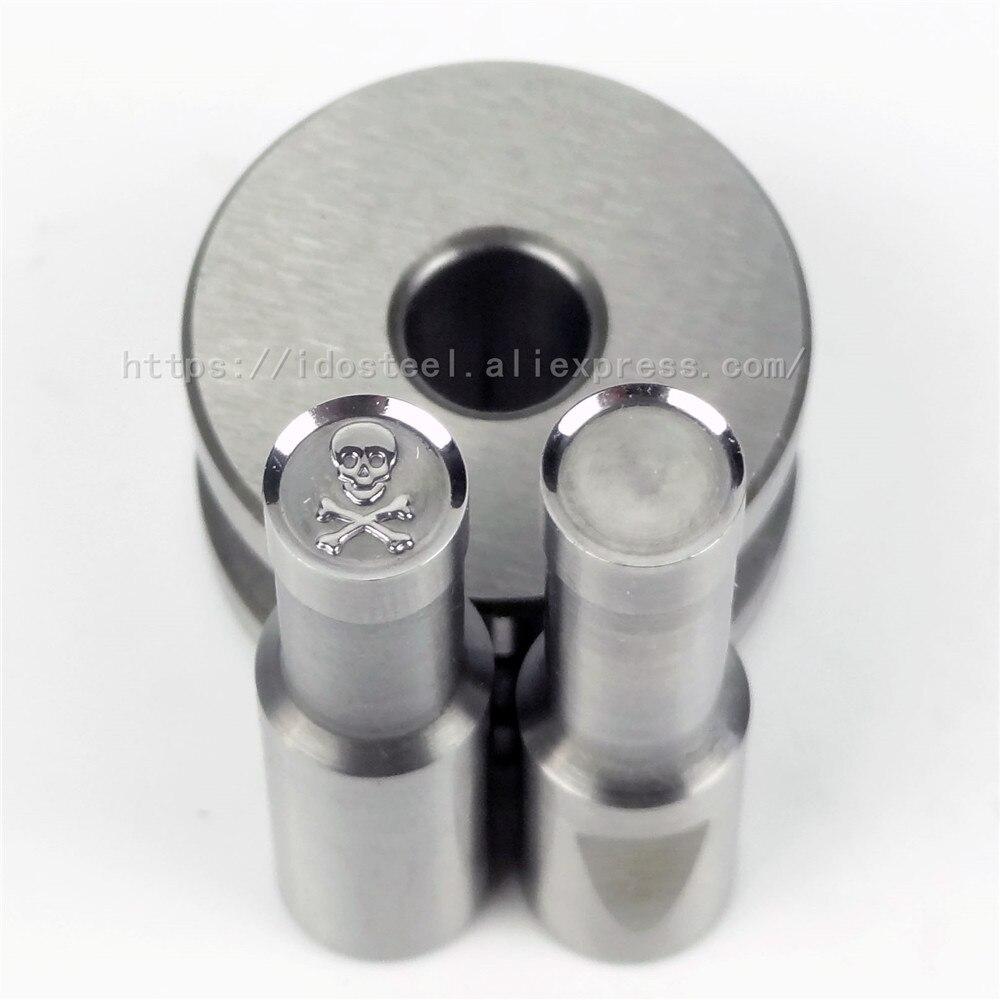 Skull Head 8mm Milk Tablet Die BateRpak Punch Press Mold Candy Punching Die Calcium Tablet Punch Pill Press Manual Die,in Stock