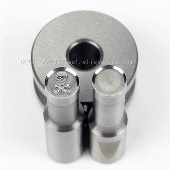 Skull Head 8mm Milk Tablet Die BateRpak Punch Press Mold Candy Punching Die Calcium Tablet Punch Pill Press Manual Die