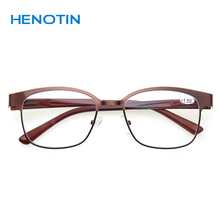 classic Reading Glasses Spring Hinge Rectangular Plastic Material Eyewears Quali