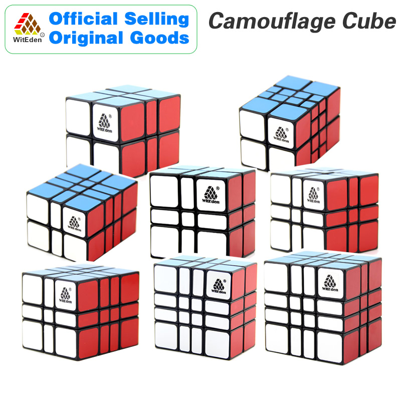 WitEden Camouflage 2x2x3 2x2x4 2x3x4 3x3x2 3x3x3 3x3x4 4x4x2 4x4x3 Magic Cube Neo Speed Puzzle Antistress Toys For Children