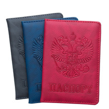 genuine leather russian passport cover id business card holder travel wallet for women a598 50 driving license passport case Premium Russian Passport Cover 19 Color Passport Holder Leather Men's Travel Passport Cover Passport Wallet Women ID Card Pack