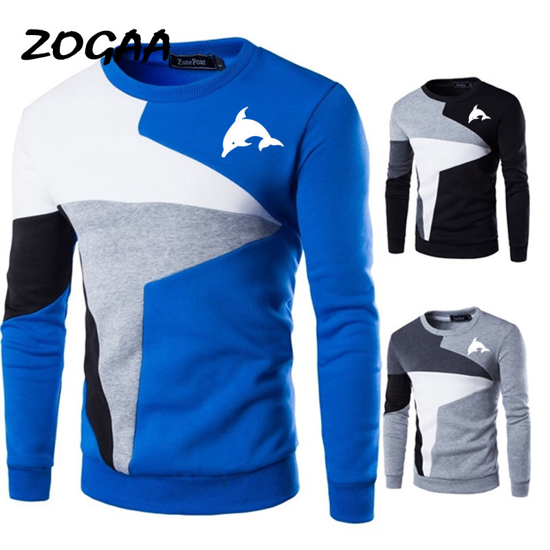 Cute Dolphin 3d Animal Printed Sweaters Men New Casual O-Neck Slim Cotton Knitted Mens Sweaters Pullovers Men Brand Clothing