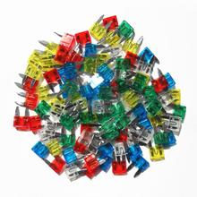 120Pcs/set 5A 10A 15A 20A 25A 30Amp Assorted Mini Fuses Car Caravan Fuse Small Size Circuit Fuse Set Universal new original 800a 690v 170m5264 semiconductor fuse electrical fuse types safety fuses