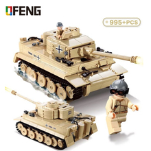 Military Panzer King Tiger Tank Building Blocks Technic WW2 Army Soldiers DIY Bricks Toys for Children Gifts
