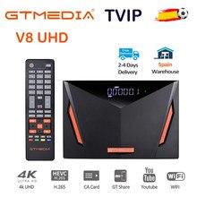 TV por satélite Recetor GTmedia V8 UHD Combo DVB S2 T2 Cable H.265 4K Ultra HD Built in WIFI Cline GT Media Media
