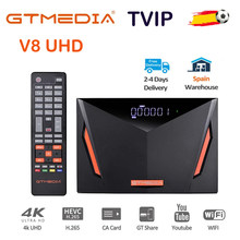 NOWE GT Media V8 UHD TV Satelitarny odbiornik Combo DVB S2 T2 Cable H.265 4K Ultra HD wbudowany w WIFI Cline GT Media