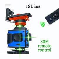 16 Lines 360 Laser Level High Precision Wall Sticker 30M Remote Control Construction Tools Nivel Laser Herramientas Construccion