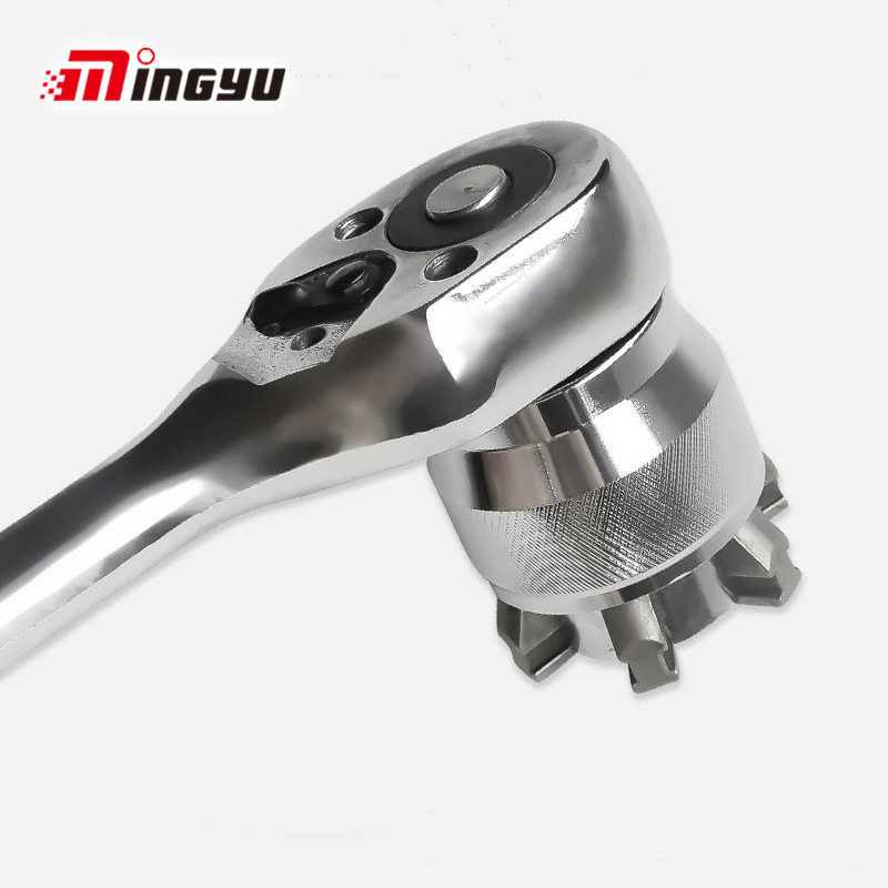 1PC 3/8 Inch Drive 10-19 Mm Adjustable Hex Universal Socket Torque Ratchet Socket Adapter Wrench Head Spanner Sleeve Repair Tool