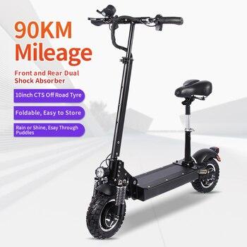 Halo Ritter 52V 2400W 70 km/h Elektrische Roller Mit Sitz 10 zoll Doppel Drive Off Road Klapp E roller Für Erwachsene