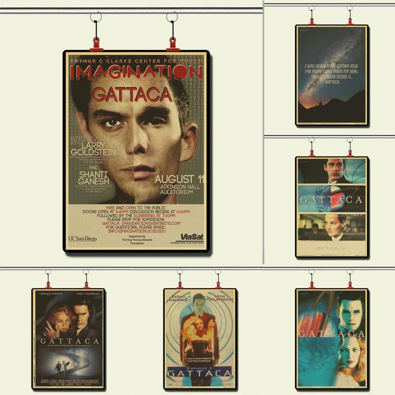 Gattaca Propaganda Retro Vintage Kraft Poster Decorative DIY Wall Sticker Home Bar Posters Decoration