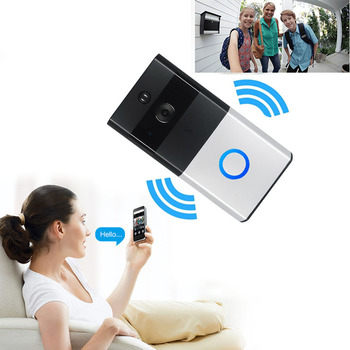 New Wire-free WiFi Video Doorbell With 8G TF Card 720P HD PIR Motion Detection Alerts Night Vision HD Camera UK Plug QJS