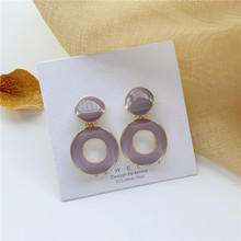 Temperament of style restoring ancient ways gentle circle stud earrings contracted geometric earrings jewelry accessories