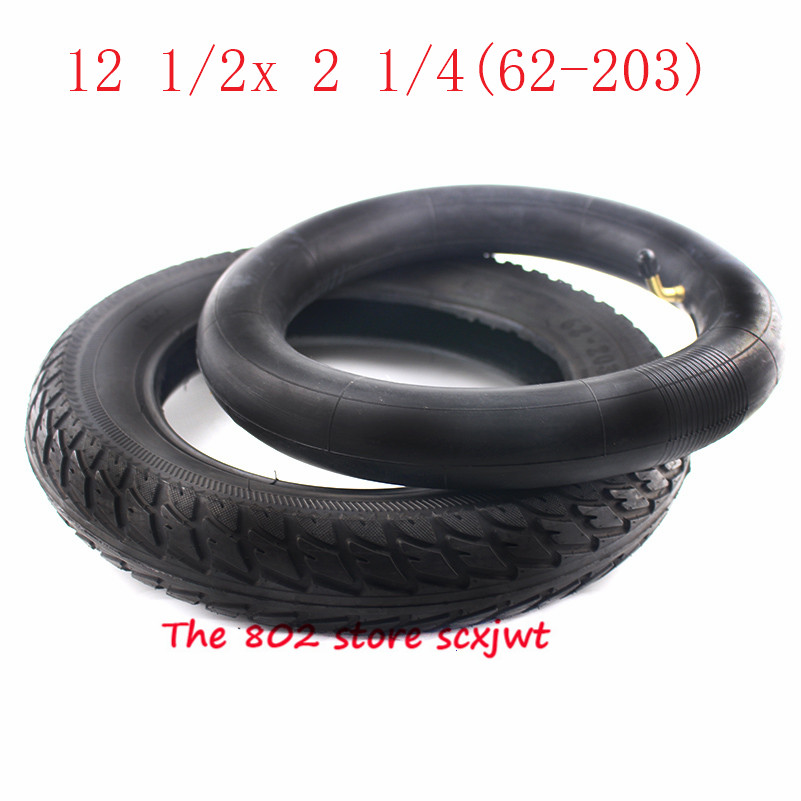 Size 12 inch Tire 12 1/2 X 2 1/4 ( 62-203 ) fits Many Gas Electric Scooters and e-Bike 12 1/2*2 1/4 wheel tyre & inner tube