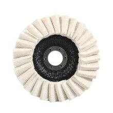 1 Pc tampon de polissage meule rabat feutre disque laine 125mm 5