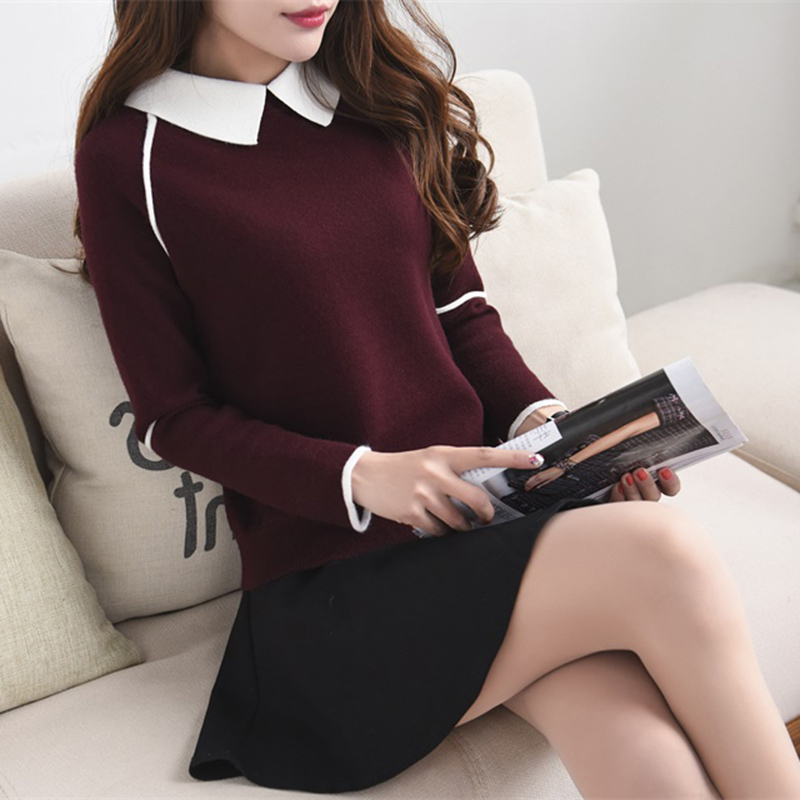 2019 Real Poncho New Trend Of Korean Version Of Small Square Collar Sleeve Knitted Bottom Sweater Pullover In Autumn And Winter